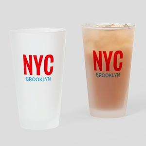 NYC Brooklyn Drinking Glass