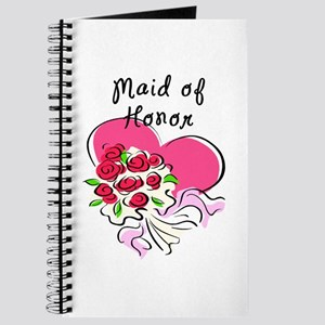 Maid Of Honor Heart Bouquet Journal