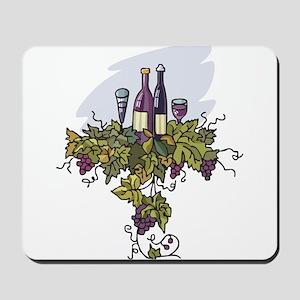 COUPLE BOTTLES OF WINE Mousepad