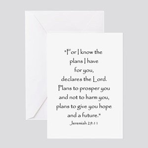 Jeremiah 29:11 Greeting Cards
