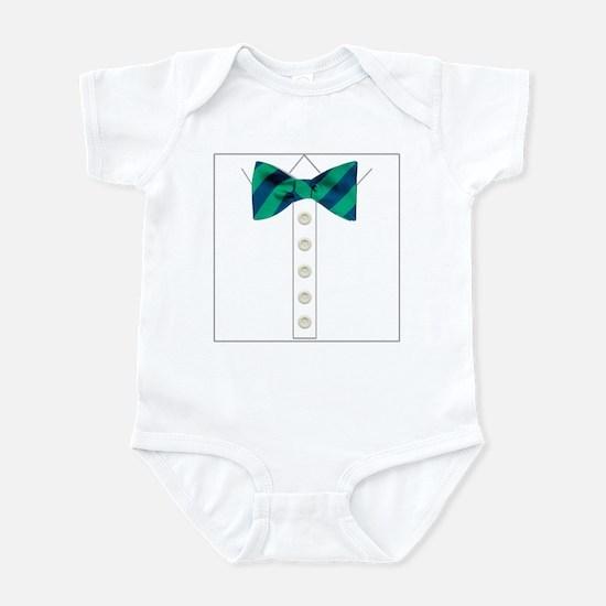 green bow tie tuxedo Infant Bodysuit