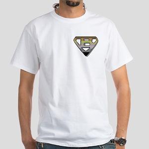 SUPER BEAR/BRICKS 2/PKT White T-Shirt
