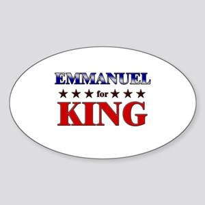 EMMANUEL for king Oval Sticker