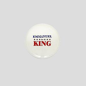 EMMANUEL for king Mini Button