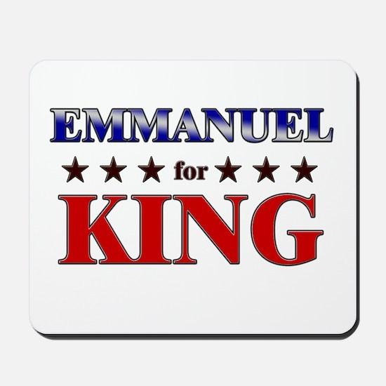 EMMANUEL for king Mousepad