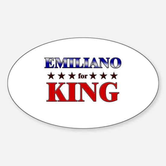 EMILIANO for king Oval Decal
