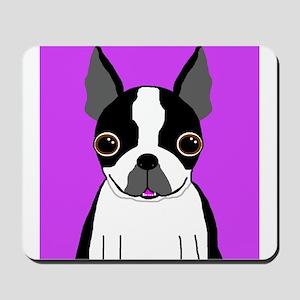 Boston Terrier (Black) Mousepad