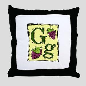 Gg....GRAPE Throw Pillow