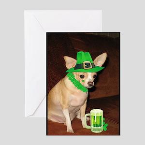 Irish Chihuahua Greeting Card