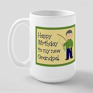 New Grandpa Birthday Large Mug