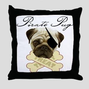 Pirate Pug - Throw Pillow