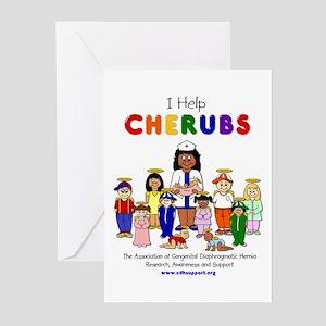 """I Help CHERUBS"" Nurse Lisa Logo Character Greetin"