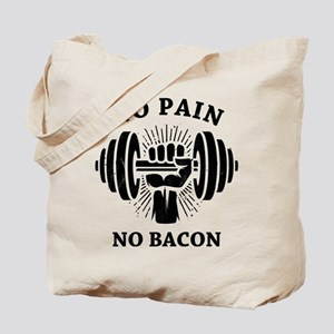 No Pain No Bacon BLK Tote Bag