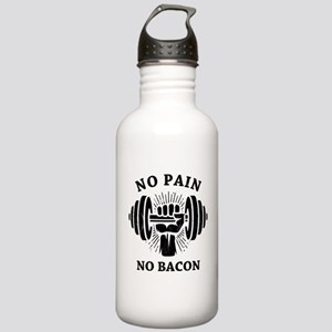No Pain No Bacon BLK Stainless Water Bottle 1.0L
