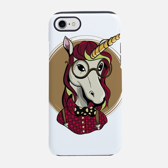 Hipster Unicorn iPhone 8/7 Tough Case