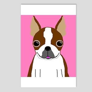 Boston Terrier (Brown) Postcards (Package of 8)