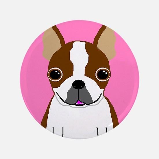 "Boston Terrier (Brown) 3.5"" Button"