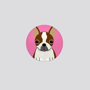 Boston Terrier (Brown) Mini Button
