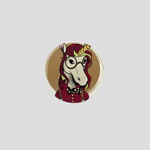 Hipster Unicorn Mini Button