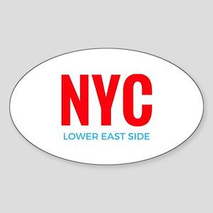 NYC Lower East Side Sticker