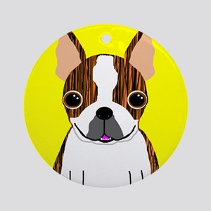 Boston Terrier (Brindle) Ornament (Round)