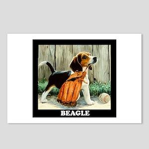 Beagle & Baseball Postcards (Package of 8)