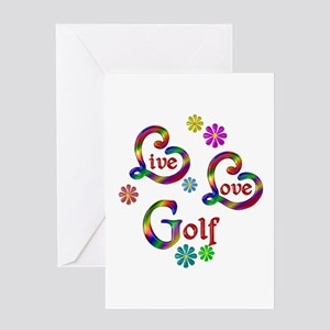 Live Love Golf Greeting Cards