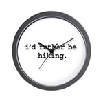 i'd rather be hiking. Wall Clock