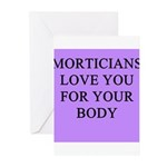 mortician gifts t-shirts Greeting Cards (Pk of 20)