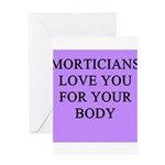 mortician gifts t-shirts Greeting Card