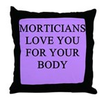 mortician gifts t-shirts Throw Pillow
