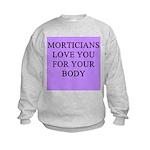 mortician gifts t-shirts Kids Sweatshirt