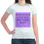 mortician gifts t-shirts Jr. Ringer T-Shirt