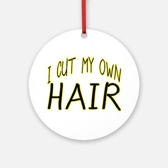 Hair Cut Ornament (Round)