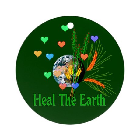 Amulets To Heal The Earth Ornament (Round)