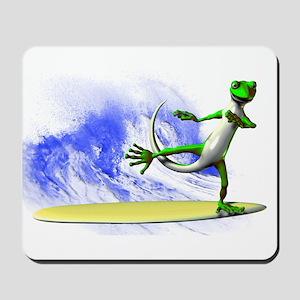 Surfing Gecko Mousepad