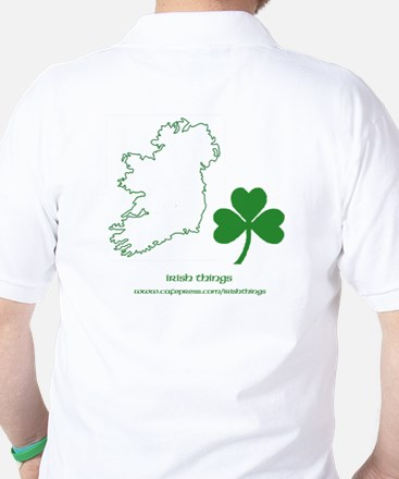 Caution Irish Drinking Machine Golf Shirt