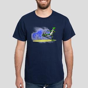 Surfing Gecko Dark T-Shirt