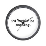 i'd rather be moshing. Wall Clock