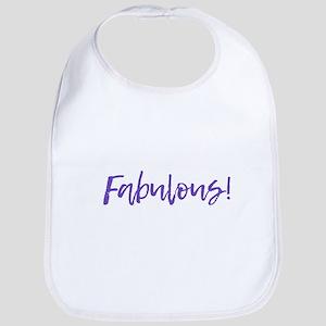 Fabulous - Purple Baby Bib