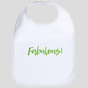 Fabulous - Lime Green Baby Bib