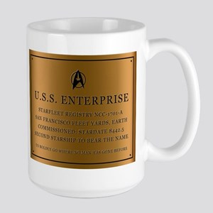 enterpriseplaque04 Stainless Steel Travel Mugs