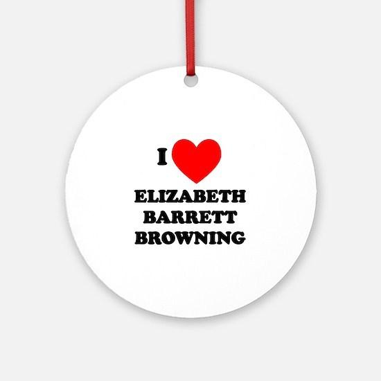 Elizabeth Barrett Browning Ornament (Round)
