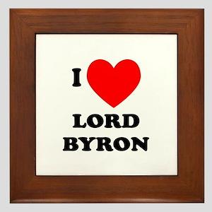 Lord Byron Framed Tile