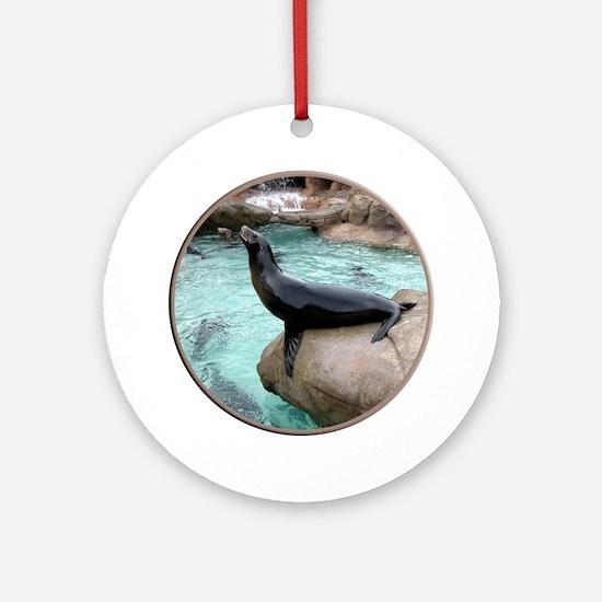Helaine's Sea Lion Ornament (Round)