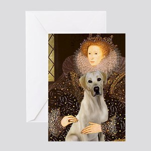 Queen & Yellow Lab Greeting Cards