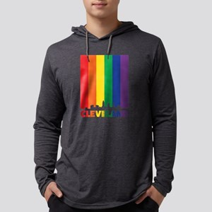 rainbow cleveland pride Long Sleeve T-Shirt