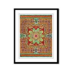Carpet Page Framed Panel Print
