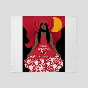 boho international womens day Throw Blanket