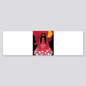 boho international womens day Bumper Sticker